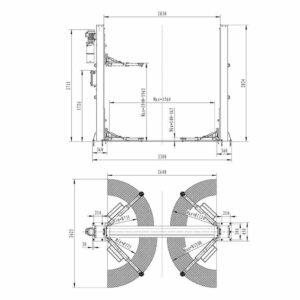 Schema installation pont elevateur automatique 4t - €1 950,00 -