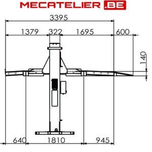 pont elevateur hydraulique mobile 2.7T DIMENSIONS - €2 478,51 -