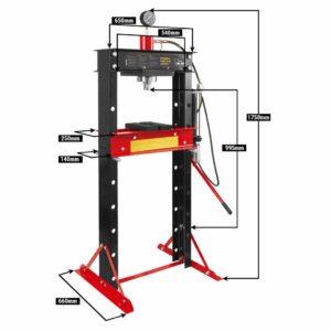 Presse hydraulique 30T - Outillage garagiste, mecanicien, carrossier - 6