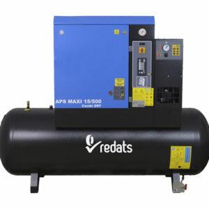 compresseur à vis avec sécheur 500L 11kW 10 bar - mecatelier-