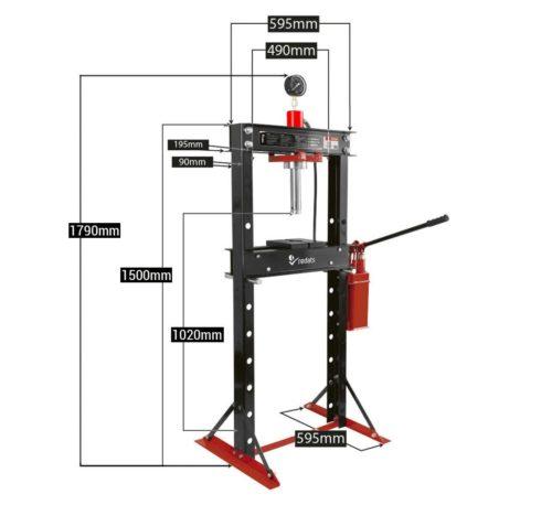 presse hydraulique 20T H-370 spécifications