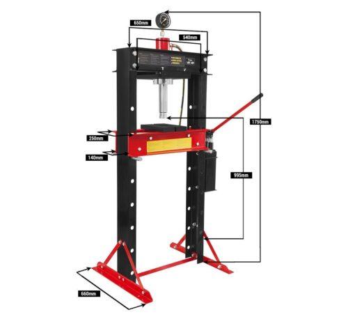 presse hydraulique 30T H-380 spécifications