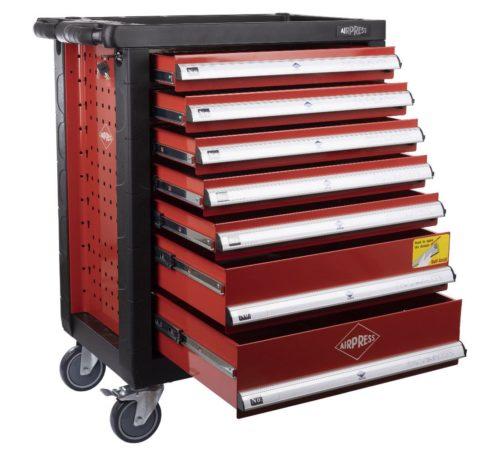 servante d'atelier complète 7 tiroirs 217 éléments