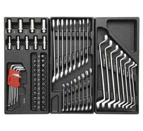 servante d'atelier complète 420 éléments rouge clés plates