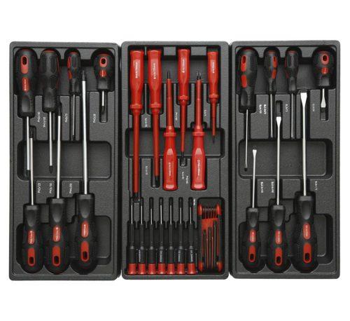 servante d'atelier complète 420 éléments rouge clés tournevis