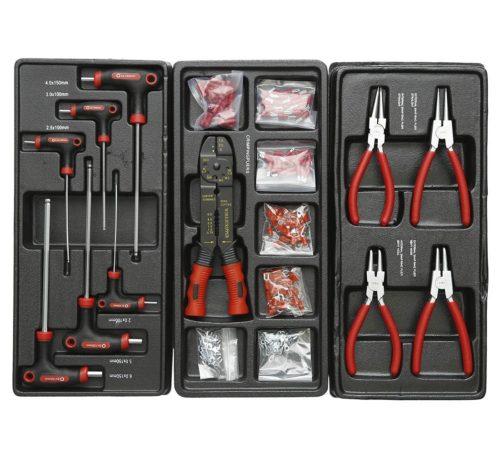 servante d'atelier complète 420 éléments rouge électricité