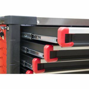 servante d'atelier complète 420 éléments rouge tiroirs