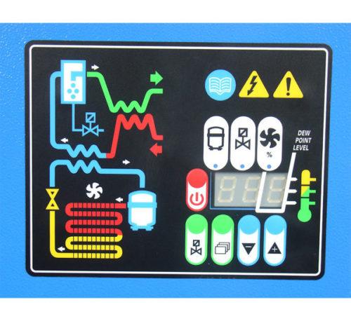 déshydrateur à réfrigération Mecatelier panneau de commande