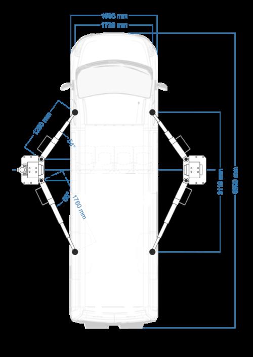 pont elevateur 2 colonnes automatique 5T dimensions acheter sur mecatelier - €2 650,00 -