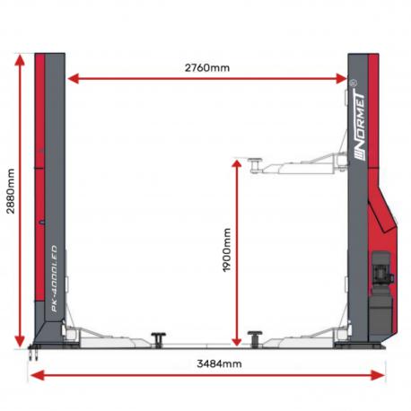 Pont 2 colonnes LED spécifications