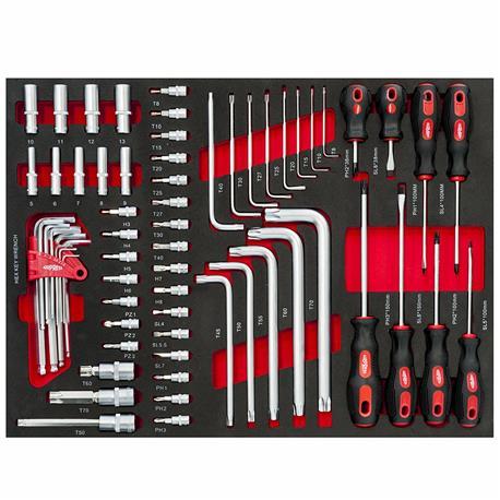 servante à outils complète 447pc tournevis