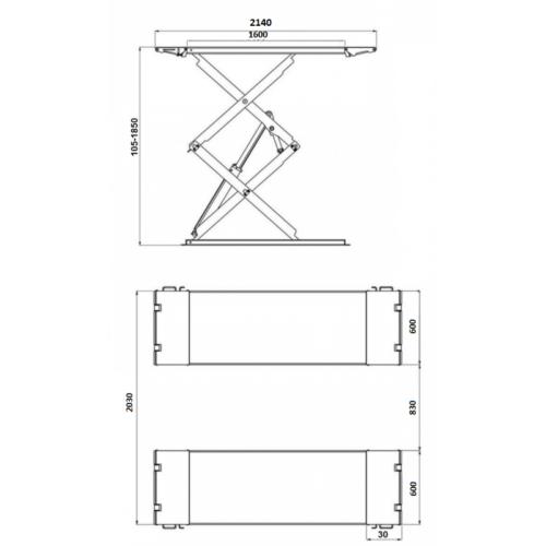 pont ciseaux elevateur 3T a vendre dimensions 2 - €3 200,00 -