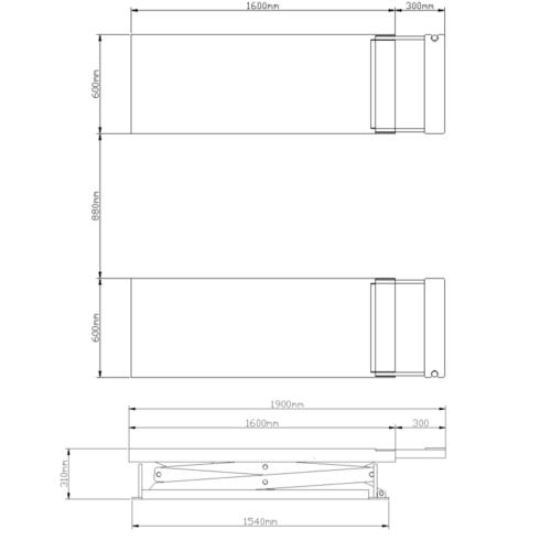 pont ciseaux encastrable plan dimensions 3t voiture garage normet 1 - €2 900,00 -