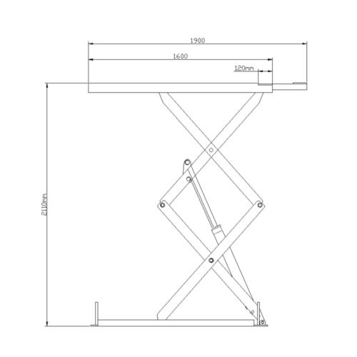 pont ciseaux encastrable plan dimensions 3t voiture garage normet - €2 900,00 -
