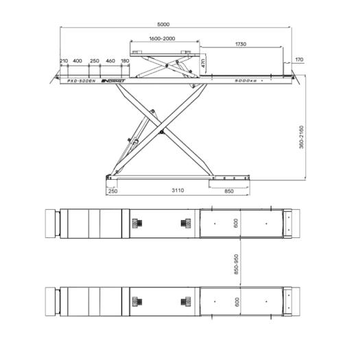 pont ciseaux geometrie 5T bleu 9 - €7 500,00 -