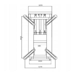 Plateforme élévatrice 2.8T dimensions