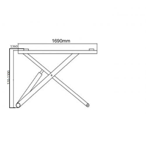 Plateforme élévatrice 2.8T dimensions déplié