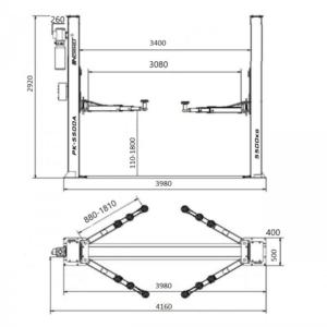 pont 2 colonnes 5.5T dimensions details - €2 320,00 -