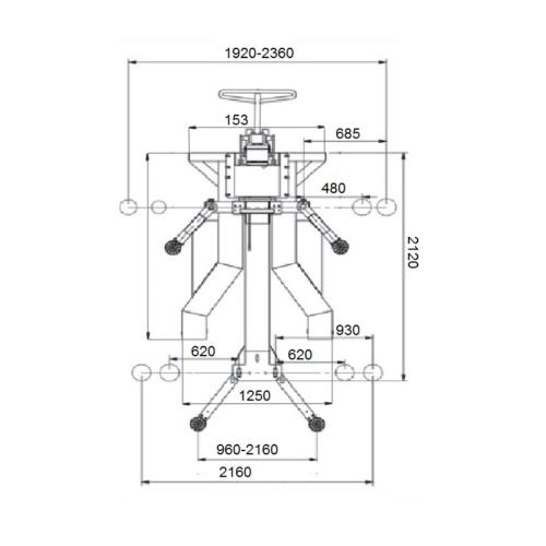 pont monocolonne mobile dimensions